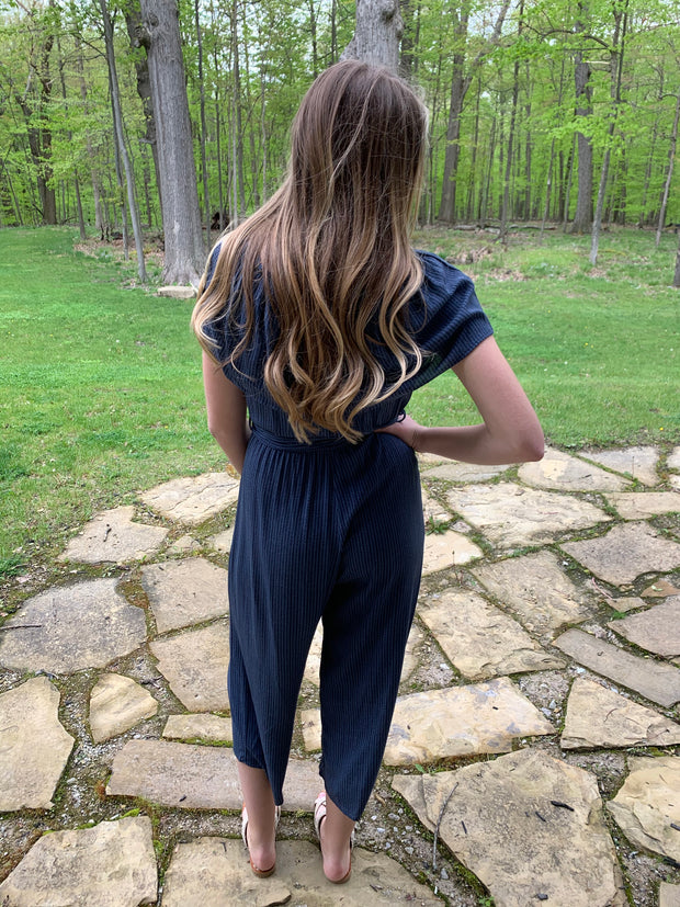 Navy Casual Jumpsuit