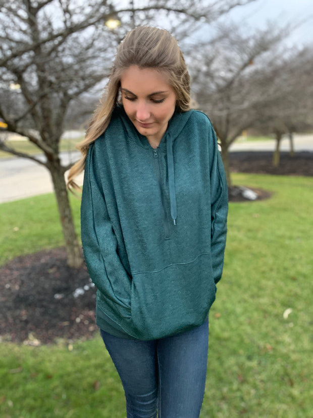 Forest Green Oversized Hoodie Pullover