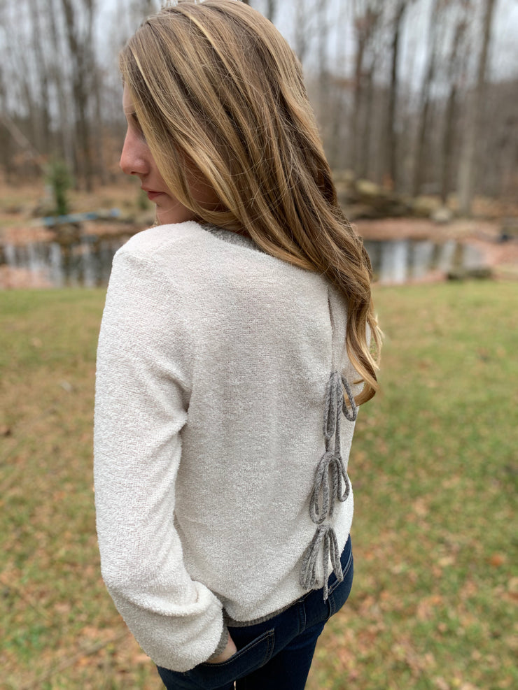 Knit Open Back Sweater