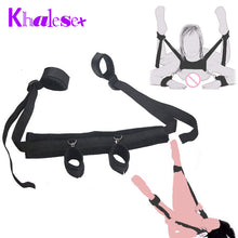 Bed Bondage Leg Open -  Restraints Neck Handcuffs Ankle - Cuff Straps, Sex Toys for Couples