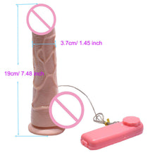 Rotating Dildo  Vibrator Multi-Speed  with Strong Suction Cup  - Real  Dick Penis Toys For Couples or Alone
