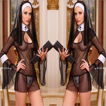 Sexy Nuns Costumes  - Transparent and  Erotic Lingerie