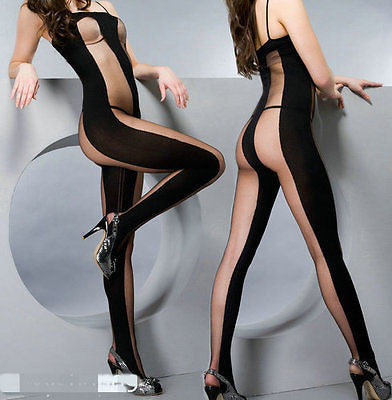 Sexy Pantyhose Open Crotch -   Hot Sexy Underwear - Stocking Bodysuit Lingerie Nightwear