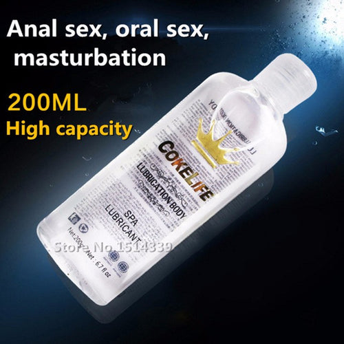 Personal Water-Based Lubricant for Anal sex Relieve Pain -  SPA Massage Oil Masturbation Grease Sex Lube Oral Vaginal Gel - 200ml