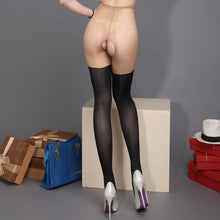 New Patchwork Color Pantyhose Contrast Tights - Open Crotch Fake Thigh-high Stockings