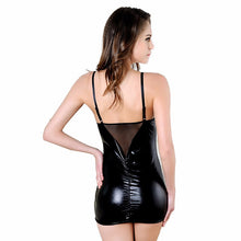Hot Black Leather Lingerie -  Erotic Clothes - Plus Size S
