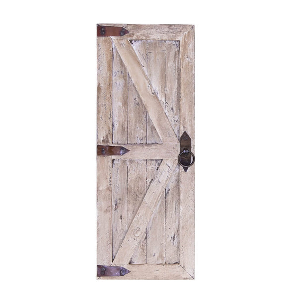 Mini Wood Door White Wash - The Welcome Sign