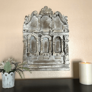 Carved Wooden Niche For Wall