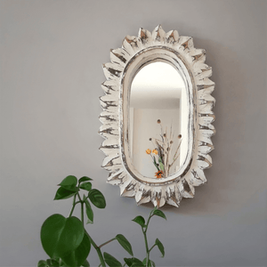 Oval Sunlight Hand Carved Mirror