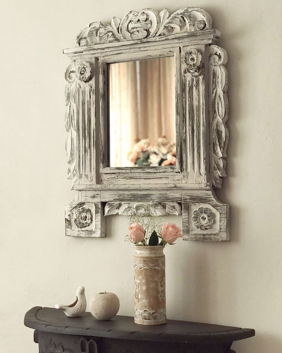 Victorian Mirror With Pillars - The Welcome Sign