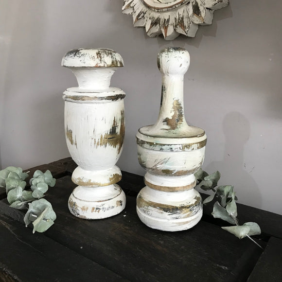 Antique Wooden Finials ✨set of 2✨