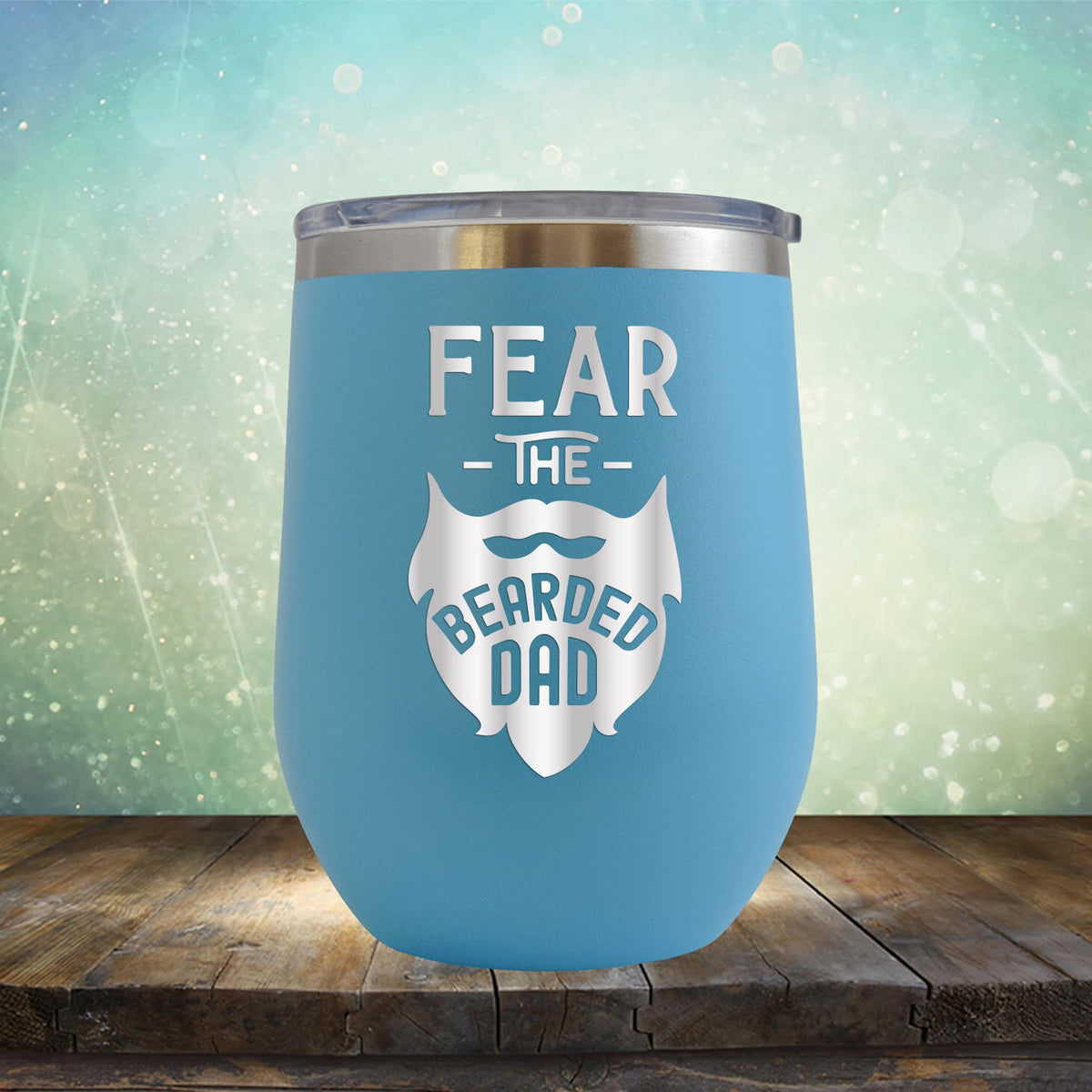 Fear The Bearded Dad - Stemless Wine Cup