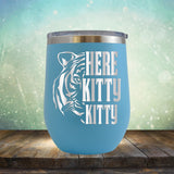 Here Kitty Kitty with Tiger - Stemless Wine Cup