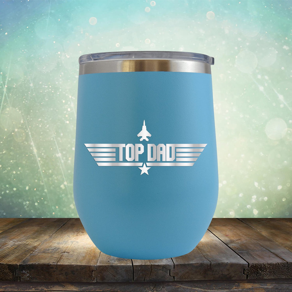 Top Dad - Stemless Wine Cup