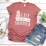 Life is Better in Summer - Short Sleeve Tee Shirt