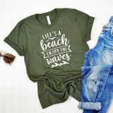 Life's A Beach Enjoy The Waves - Short Sleeve Tee Shirt