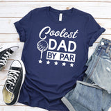 Coolest Dad By Par - Short Sleeve Tee Shirt