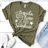 Tequila Lime and Sunshine - Short Sleeve Tee Shirt