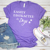 Easily Distracted By Dogs - Short Sleeve Tee Shirt