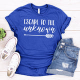 Escape to The Unknown - Short Sleeve Tee Shirt