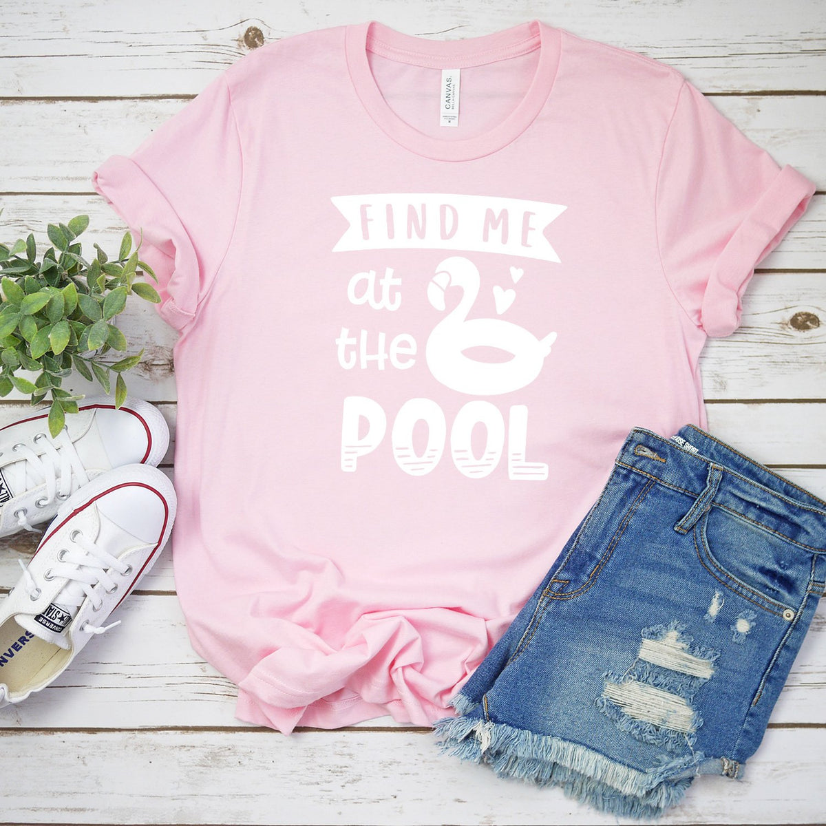 Find Me At The Pool - Short Sleeve Tee Shirt