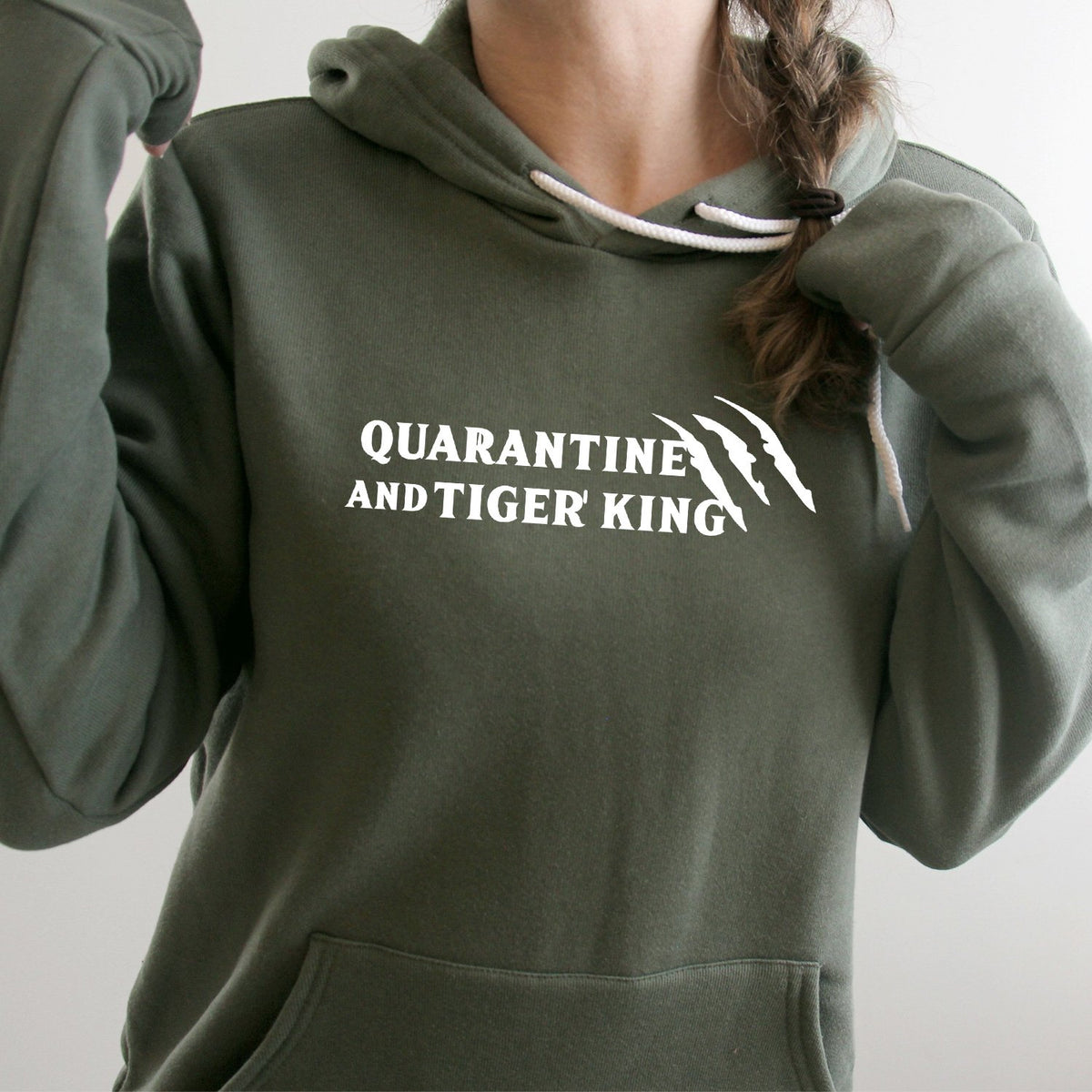 Quarantine and Tiger King - Hoodie Sweatshirt