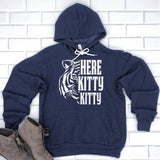 Here Kitty Kitty with Tiger - Hoodie Sweatshirt