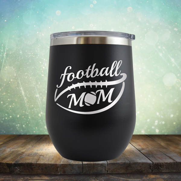 Football Mom - Stemless Wine Cup