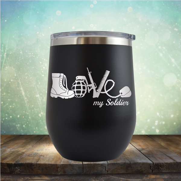 Love Soldier - Stemless Wine Cup