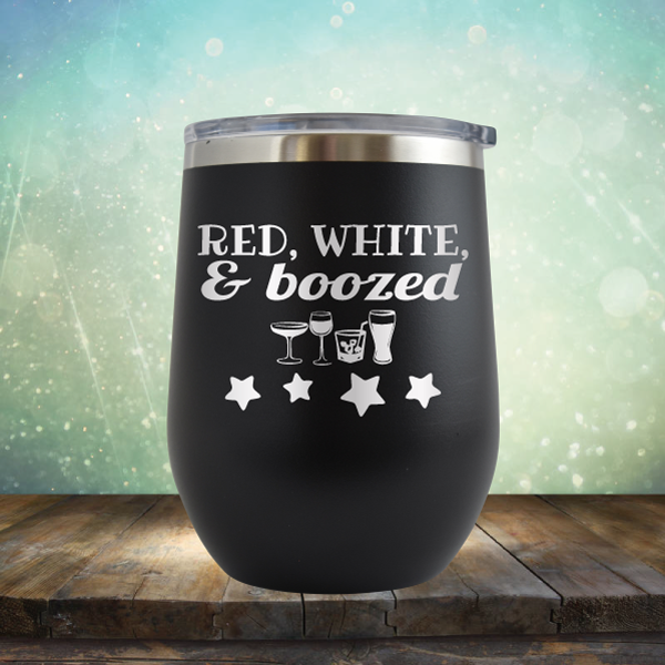 Red, White & Boozed - Stemless Wine Cup