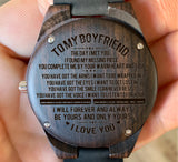 To My Boyfriend - The Day I Met You I Found My Missing Piece - Wooden Watch