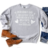 If I Had A Different Step Dad I Would Punch Him in The Face - Long Sleeve Heavy Crewneck Sweatshirt