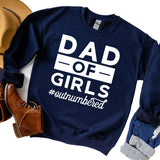 Dad Of Girls Outnumbered - Long Sleeve Heavy Crewneck Sweatshirt