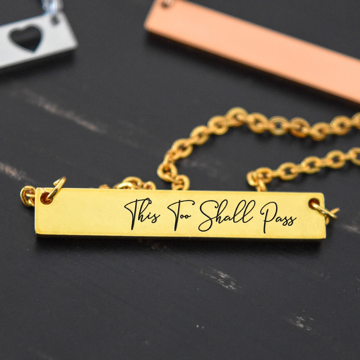 This To Shall Pass - Engraved Necklace