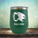 Falcons Football - Stemless Wine Cup