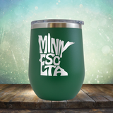 Minnesota Outline - Stemless Wine Cup