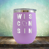 Wisconsin Written Out - Stemless Wine Cup