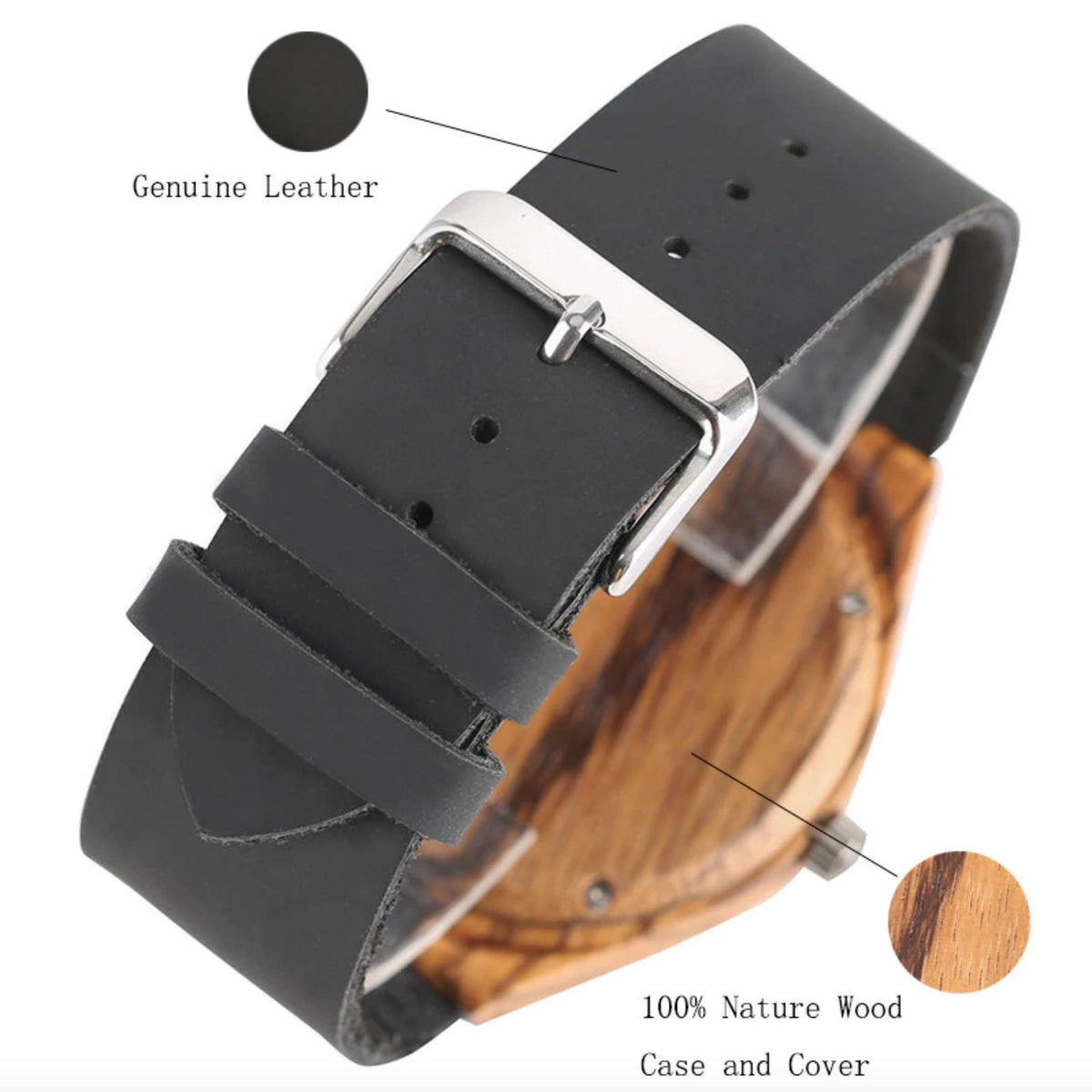 To My Husband - Never Forget That I Love You - Wooden Watch
