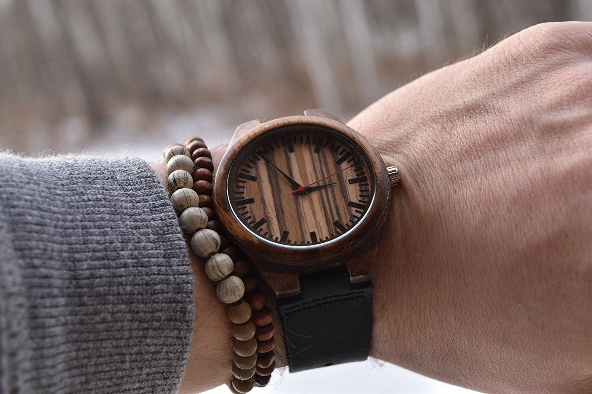 To My Fiance - You Are My Always and Forever My Happily Ever After - Wooden Watch