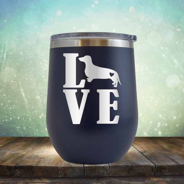 Love Weiner Dog - Stemless Wine Cup