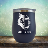 Wolves Football - Stemless Wine Cup