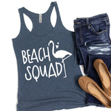 Beach Squad with Swan - Tank Top Racerback