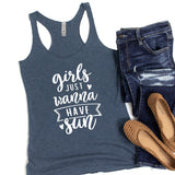 Girls Just Wanna Have Sun - Tank Top Racerback