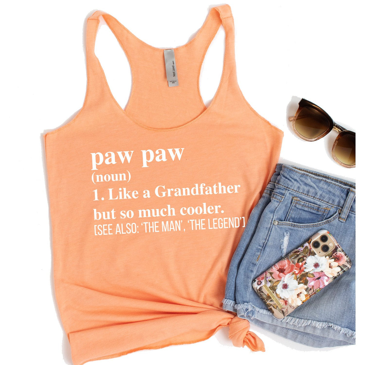 Paw Paw (Noun) 1. Like A Grandfather But So Much Cooler - Tank Top Racerback