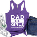 Dad Of Girls Outnumbered - Tank Top Racerback