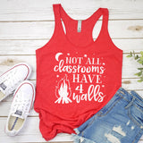 Not All Classrooms Have 4 Walls - Tank Top Racerback