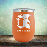 Spartans Football - Stemless Wine Cup