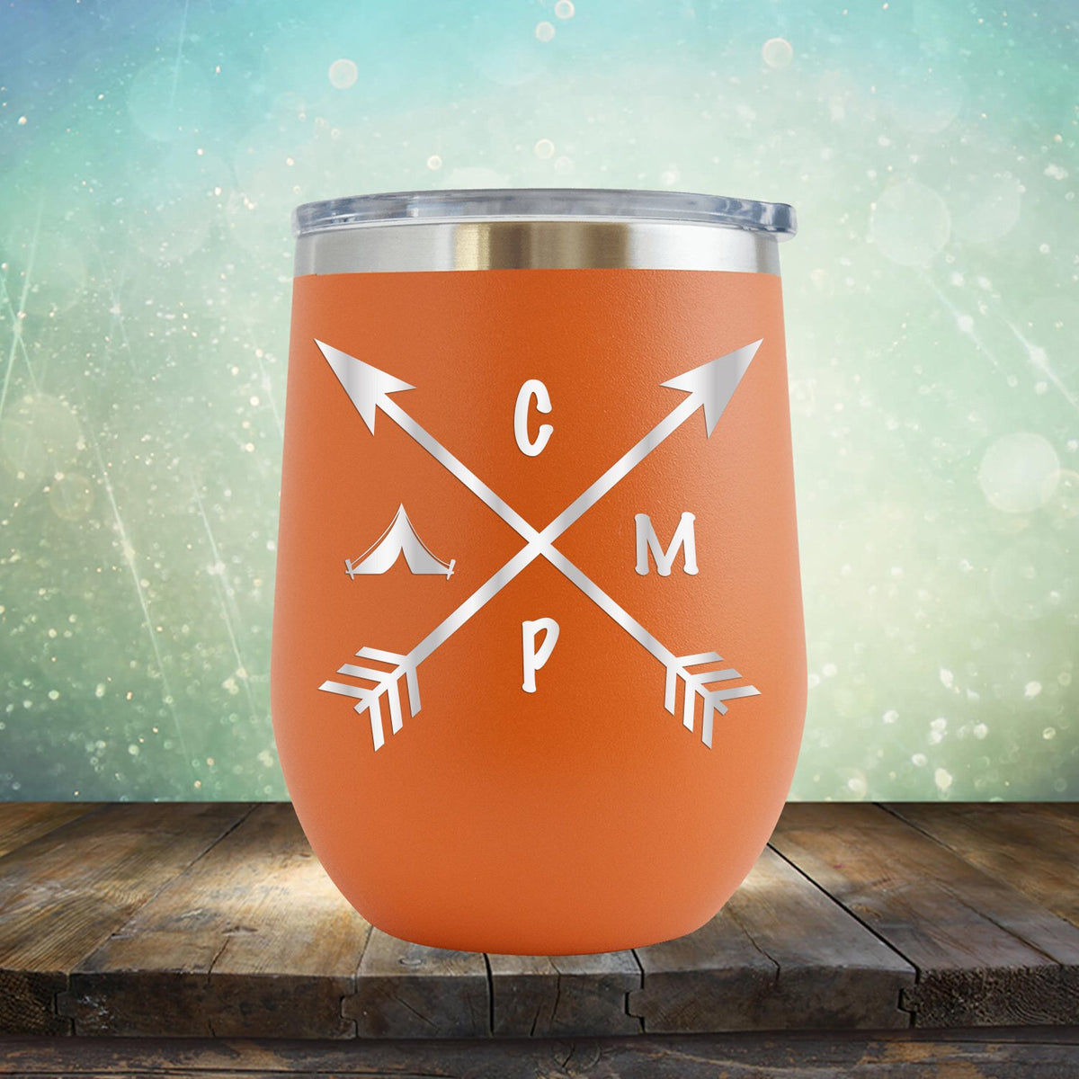 Camp with Arrows - Stemless Wine Cup