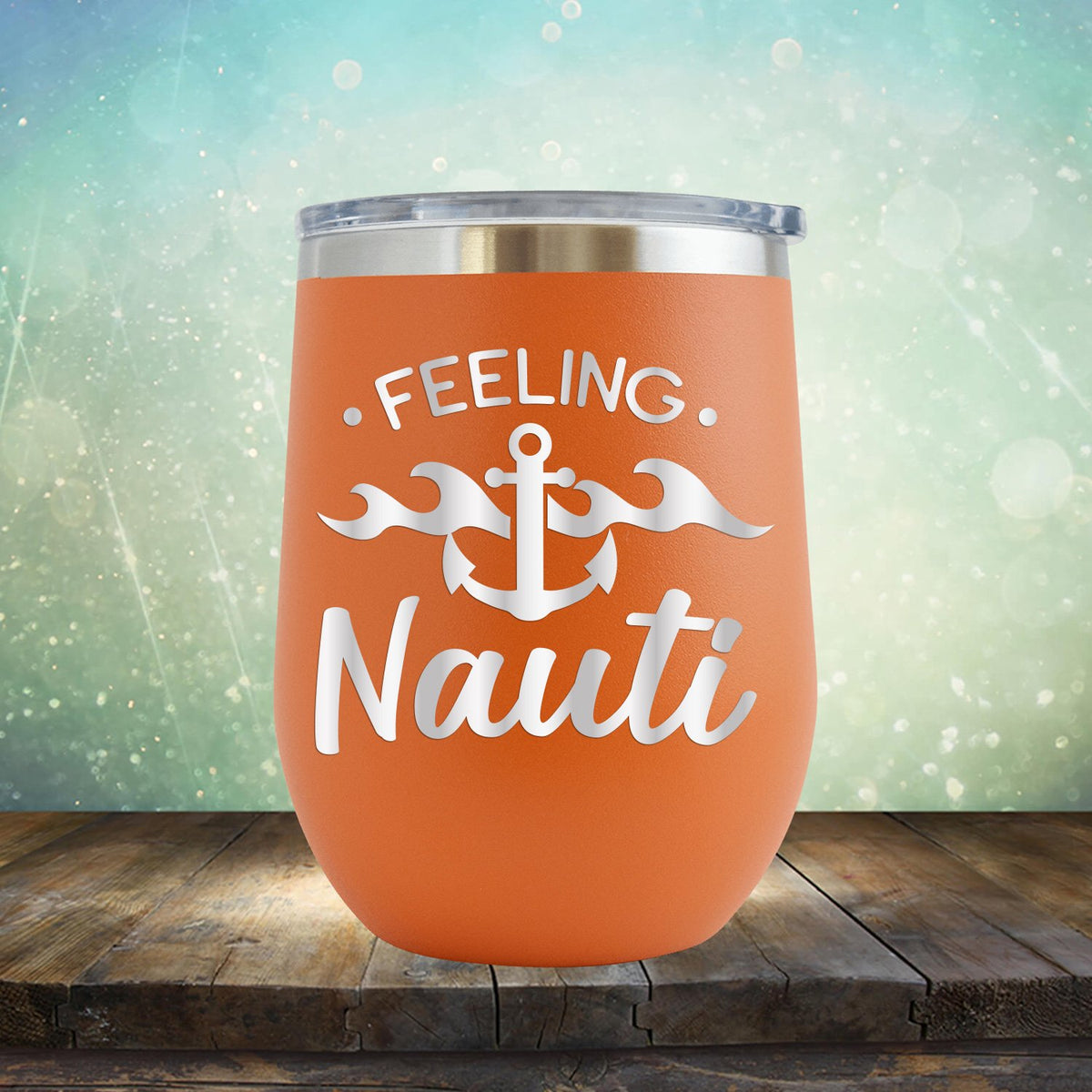 Feeling Nauti with Anchor - Stemless Wine Cup