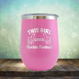 This Girl Loves Florida Football - Stemless Wine Cup